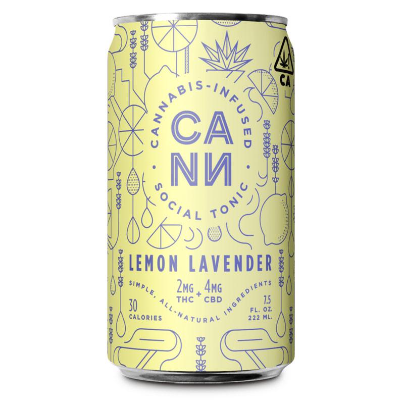 CANN-Cannabis-Drink---Lemon-Lavender---Single-Can-(2mg-THC-+-4mg-CBD)---Campnova-Online