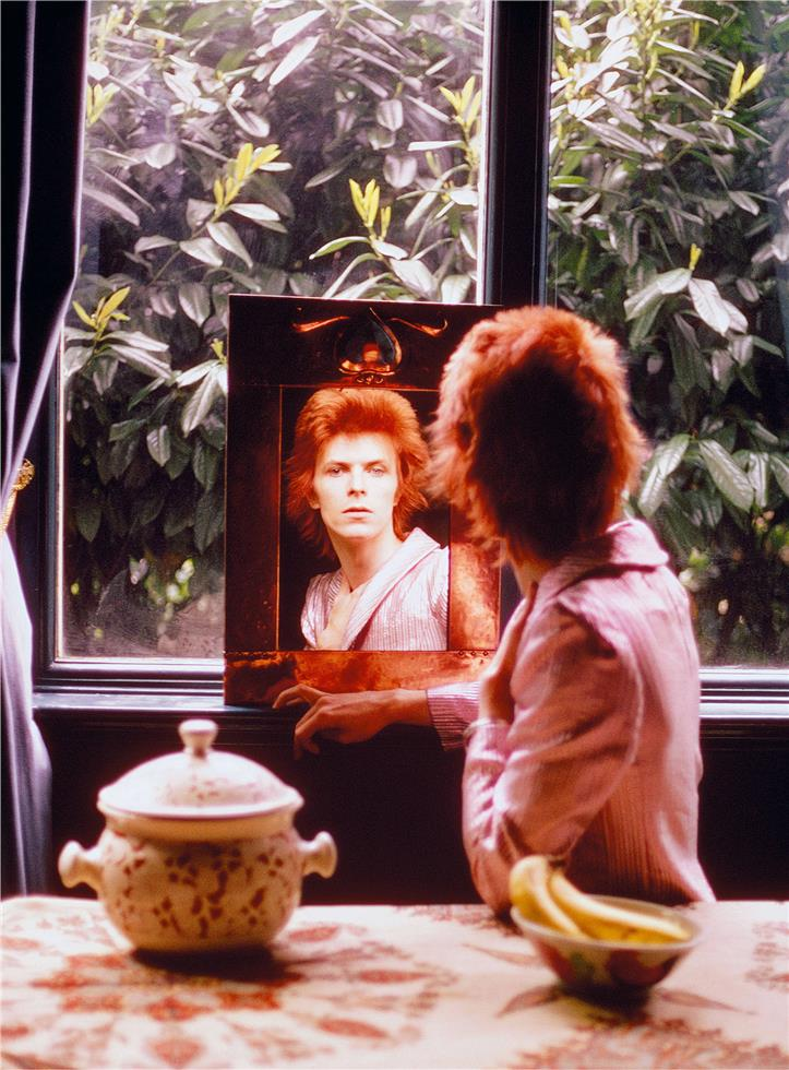 Picture of David Bowie during the Ziggy Stardust era.